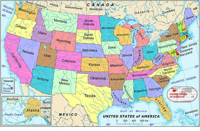 Shovelhead Friendly Motorcycle Shop Listing by state – States in Canada Map