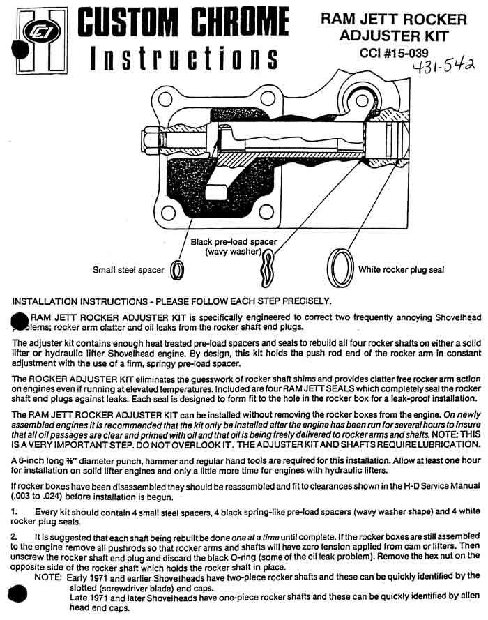 shovelhead usram jett rocker adjuster 1 2